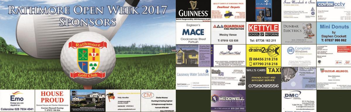 2017 Rathmore Open Week Sponsors